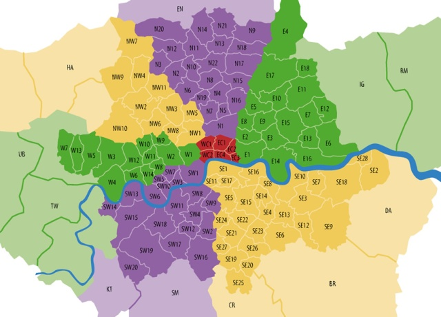 map-london-postcodes
