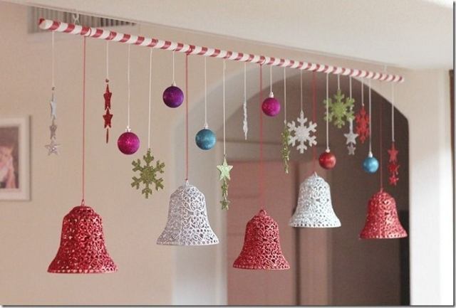 Christmas Bells And Balls Hanging Decoration Love The Idea Of